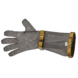 Rękawica metalowa z brązowymi paskami, bardzo długa, rozmiar XXS | GIESSER, 9590 19