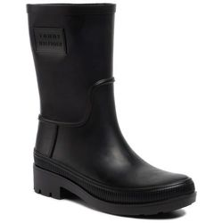 Kalosze TOMMY HILFIGER - Mens Rainboot FM0FM02566 Black BDS