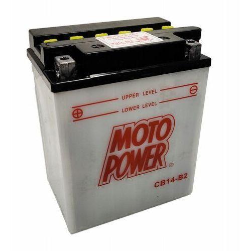 Akumulatory do motocykli, Akumulator motocyklowy Moto Power CB14-B2 YB14-B2 12V 14Ah 190A EN L+