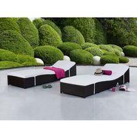 Leżaki ogrodowe, Rattanowa leżanka z komfortową poduszką leżak FIRENZE