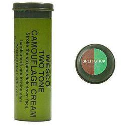 Mil-Tec Farba Maskująca Sztyft 2 Kolory Zielony i Brązowy - Brązowy ||Zielony