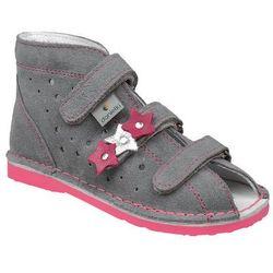Kapcie profilaktyczne buty DANIELKI TA125 TA135 Szary Fluo Fuksja - Szary ||Popielaty ||Fuksja
