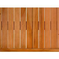 Zestawy ogrodowe, Zestaw ogrodowy mahoniowy blat 180 cm 6-osobowy rattanowe krzesła GROSSETO