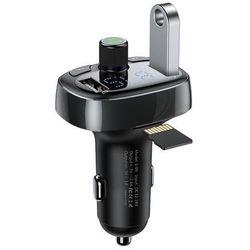 Baseus Transmiter FM z Bluetooth USB microSD (czarny)