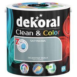 Satynowa farba lateksowa Dekoral Clean&Color delikatna skała 2 5 l