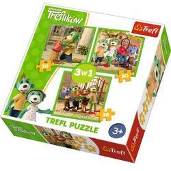 Puzzle 3w1 Rodzina Treflików - Zabawy Treflików