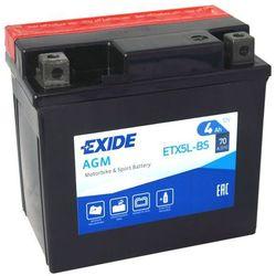 Akumulator motocyklowy EXIDE ETX5L-BS / YTX5L-BS 12V 4Ah 70A EN P+