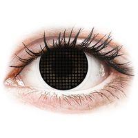 Soczewki kontaktowe, Soczewki kolorowe czarne Black Screen Crazy Lens 2 szt.