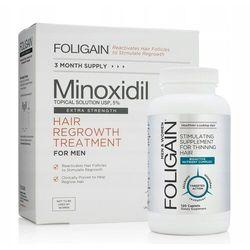Foligain Minoxidil 5% 3x60ml Suplement przeciw wypadającym włosom
