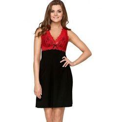 Babella larisa czarno-czerwona damska koszula nocna