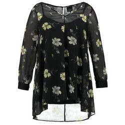 Live Unlimited London SPACED FLORAL Tunika schwarz