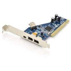 Kontroler Firewire (400) DIGITUS PCI, 2x6pin. 1x4pin Wew., 1x6pin Zew. IEEE1394a