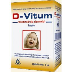 D-Vitum witamina D dla niemowląt krople D3 400 j.m. 6ml Oleofarm