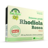 Witaminy i minerały, Olimp Rhodiola Rosea Różeniec górski STRES SEN POTENCJA 30 kaps.