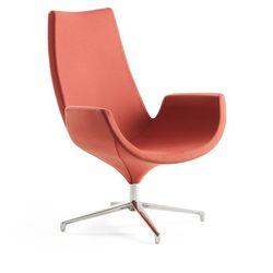 Fotel ENJOY, wysokie oparcie, rdzawy czerwony