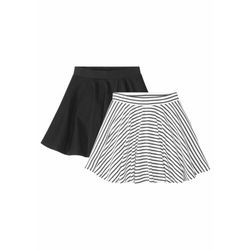 Spódnica dziewczęca (2 szt.) bonprix czarno-biały