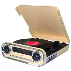 Gramofon LAUSON 01TT15 Retro Kremowy