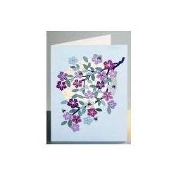 Karnet pm913 wycinany + koperta kwiaty i pszczoły