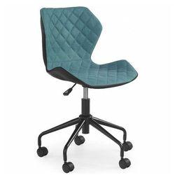 Młodzieżowy fotel pikowany Kartex - turkusowy