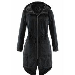 Lekko ocieplany płaszcz outdoorowy z tunelem bonprix czarny
