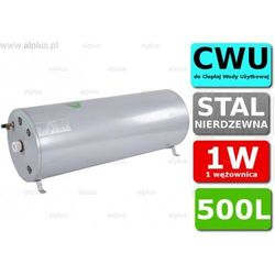 Bojler JOULE Cyclone 500L poziomy 1W 1-wężownica nierdzewka wymiennik podgrzewacz CWU Wysyłka GRATIS
