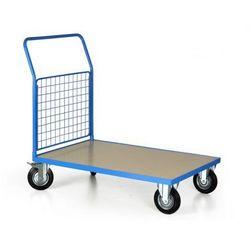 Wózek platformowy, 1200x800 mm, pełne koła, nośność 500 kg