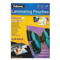 Fellowes Laminating Pouches SuperQuick Enhance 80 micron