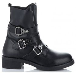 Uniwersalne Botki Damskie firmowe i modne buty damskie marki Lady Glory Czarne (kolory)