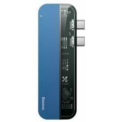 Baseus Transparent Series | Adapter HUB 2x USB-C do USB-C HDMI USB 3.0 do Macbook Pro 100W Thunderbolt 5K@60Hz