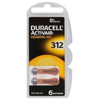 Baterie, Baterie do aparatów słuchowych Duracell ActivAir 312 MF 6 sztuk