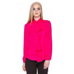 Różowa bluzka z ozdobnym wiązaniem - Duet Woman