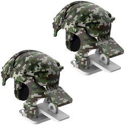 Baseus Level 3 Helmet PUBG pad gamepad joystick do telefonu do gier Camouflage szary (GMGA03-A0G) - Camo ||Szary
