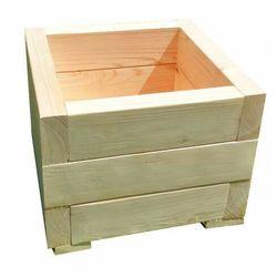 Kwadratowa drewniana donica ogrodowa 15 kolorów - Narina