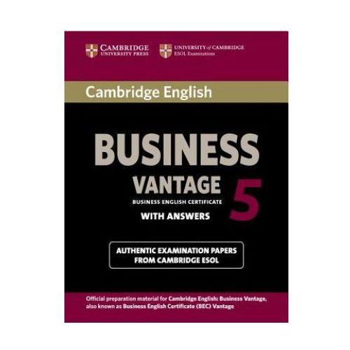 Książki do nauki języka, Cambridge English Business (BEC) 5 Vantage Student's Book with Answers (opr. miękka)