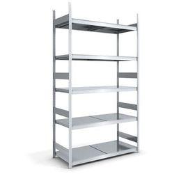 Regał wtykowy o dużej pojemności z półkami stalowymi,wys. 3000 mm, szer. półki 1500 mm