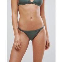 Stroje kąpielowe, Boohoo Clean Strap Side Bikini Brief - Green