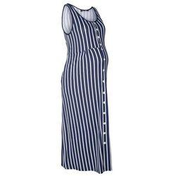 Sukienka shirtowa ciążowa i do karmienia, w paski bonprix ciemnoniebiesko-biały w paski