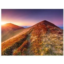 Fototapeta - Kolorowy jesienny krajobraz górski bogata chata