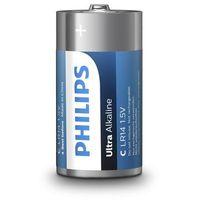 Baterie, Baterie alkaliczne Philips Ultra Alkaline LR14 C (blister) 2 sztuki