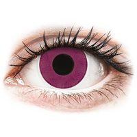 Soczewki kontaktowe, Soczewki kolorowe różowe PURPLE Crazy Lens 2 szt.