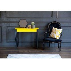 Biurko LILLO małe/średnie/duże - żółte/czarne nogi