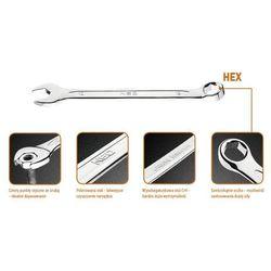 Klucz płasko-oczkowy NEO HEX/V 17 x 210 mm + Zamów z DOSTAWĄ JUTRO!