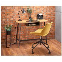 Loftowe biurko Horizon - Dąb Złoty