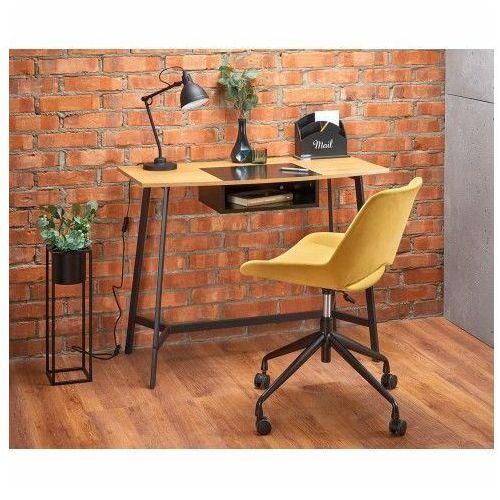 Biurka i stoliki, Loftowe biurko Horizon - Dąb Złoty