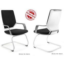 Fotel Unique APOLLO SKID, biało-czarny 18 KOLORÓW, NEGOCJUJ CENĘ
