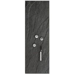 Szara tablica z magnesowa ze szkła, tablica na notatki, tablica na ścianę, szklana tablica magnetyczna, tablice magnetyczne, ZELLER
