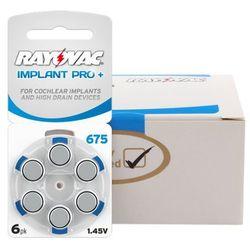 600 x baterie do aparatów słuchowych Rayovac 675 IMPLANT PRO+ MF