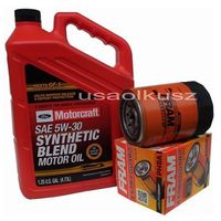 Filtry oleju, Oryginalny syntetyczny olej silnikowy Motorcraft 5W30 oraz filtr Ford Explorer 4,0 -2001