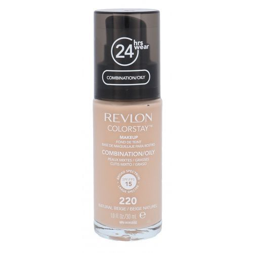 Podkłady i fluidy, Revlon Colorstay Combination Oily Skin SPF15 podkład 30 ml dla kobiet 220 Natural Beige