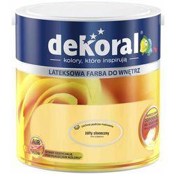 Farba Lateksowa Akrylit W Kolor Żółty Słoneczny 2.5l Dekoral